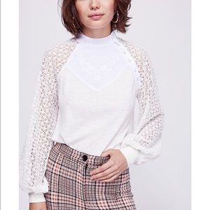 Free People Sweetest thing thermal top.